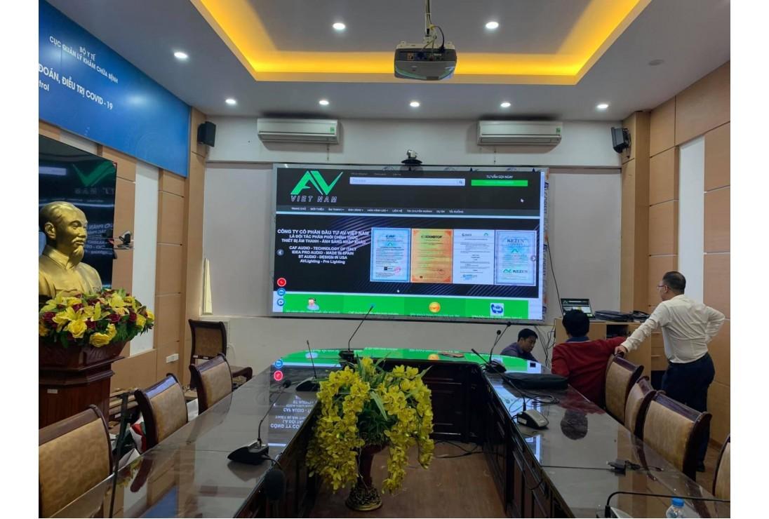 AV VIệt Nam lắp đặt bàn giao hệ thống màn hình LED tại Cục Quản Lý Khám Chữa Bệnh - Bộ Y Tế