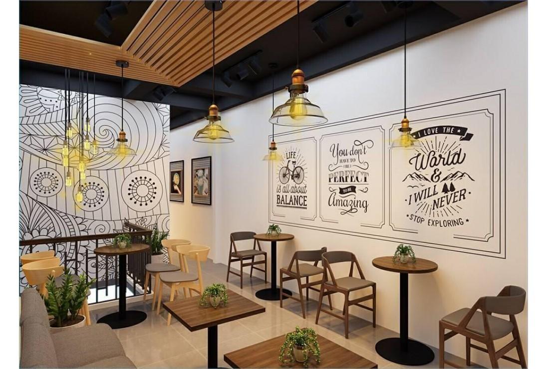 Thiết kế nội thất quán phòng trà cafe