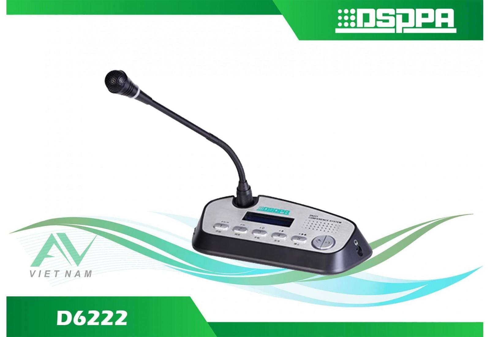 DSPPA D6222 - Micro đại biểu có dây tích hợp chức năng bỏ phiếu