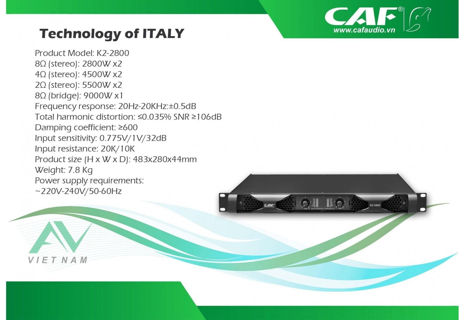CAF K2-2800