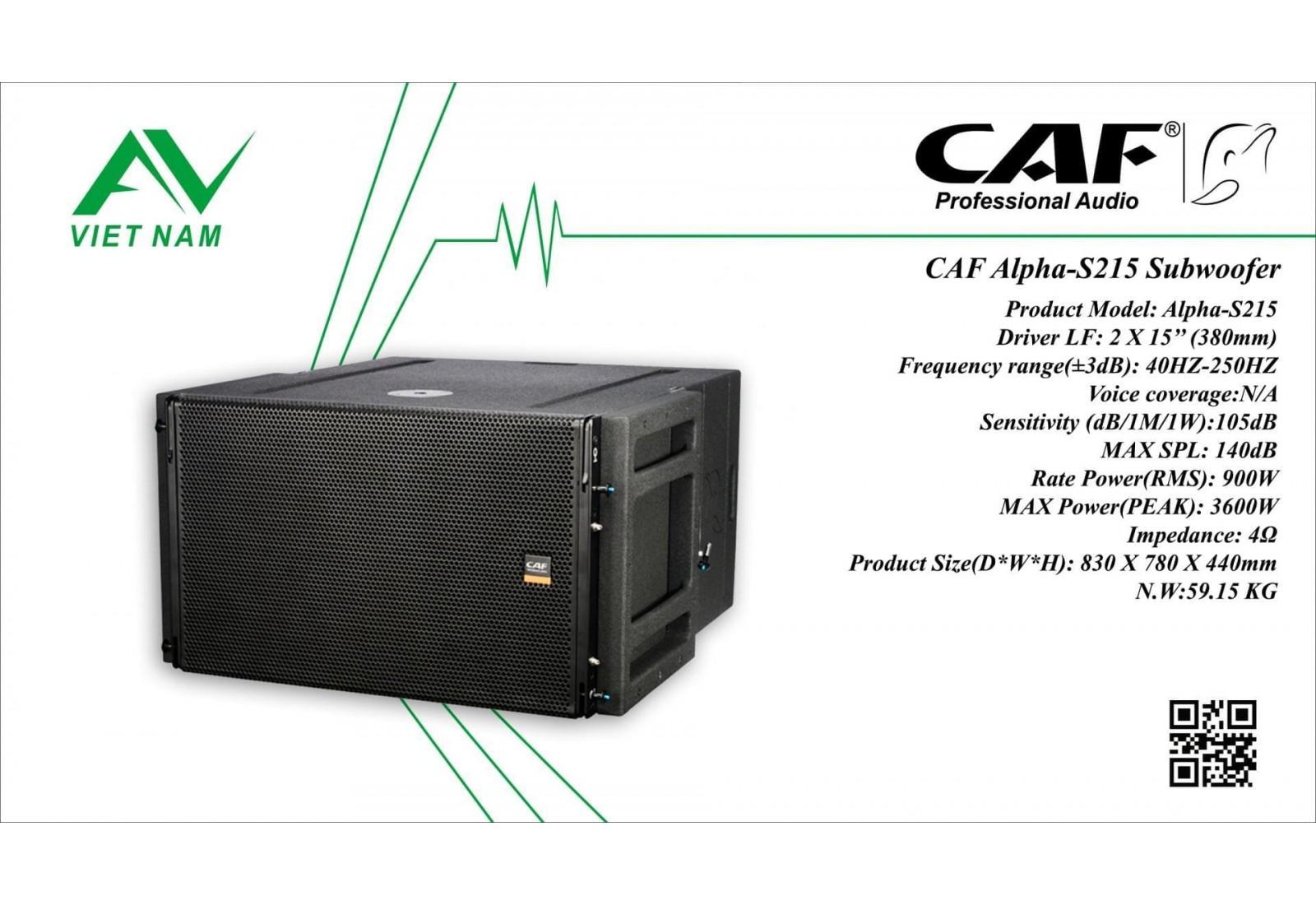 CAF Alpha-S215 Subwoofer line array