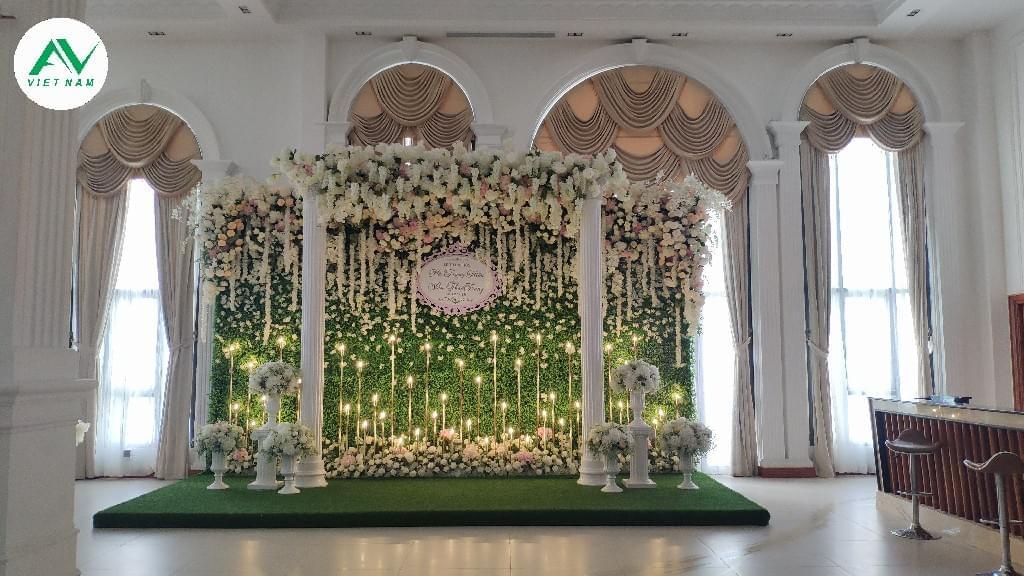 khu chụp ảnh lưu niệm tiệc cưới